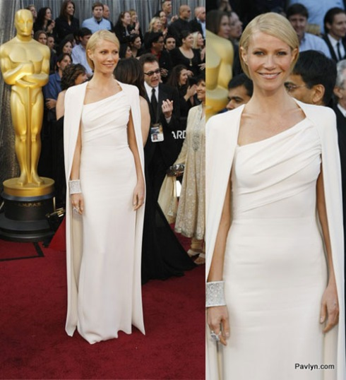 2012 Oscars Best Dressed Gweneth Paltrow in Tom Ford