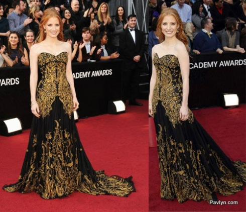 2012 Oscars Best Dressed Jessica Chastian in McQueen
