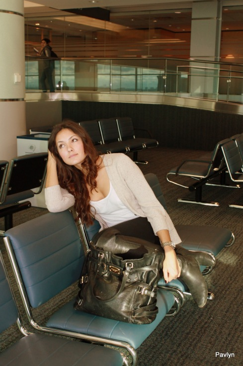 Comfortable style in travel or at the airport
