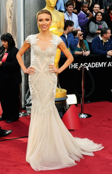 Giuliana Rancic in a Tony Ward gown for 2012 Oscars