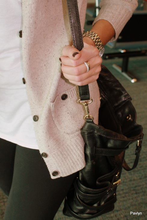 Michael Kors over the shoulder bag and watch