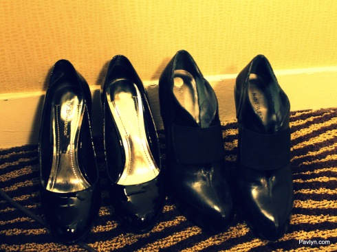 pumps and booties - our shoes for the night