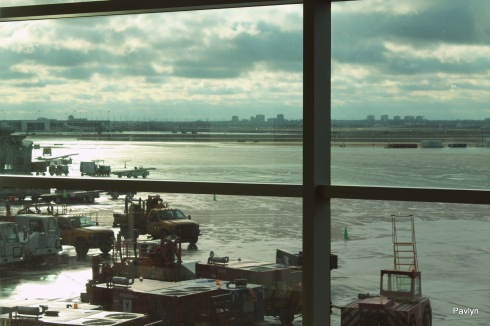 View from the window of Toronto Pearson International Airport