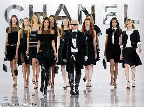 Chanel Fashion show with Karl