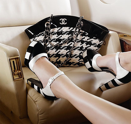 Chanel two tone pumps and bag