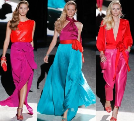 Colour Blocking trend spring 2012 runway