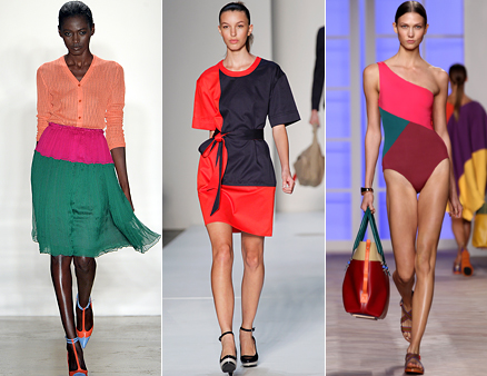 Colour blocking trend- Tommy Hilfiger, Tracy Reese, Marc by Marc Jacobs for New York Fashion Week Spring 2012 runway