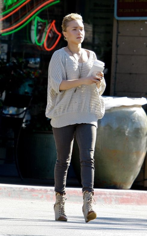Hayden Panettiere wearing  Coconuts by Matisse Davis Canvas Wedge Booties