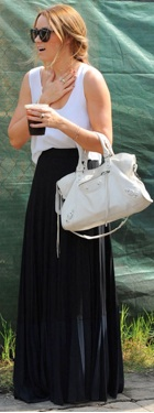 Lauren Conrad in black maxi skirt