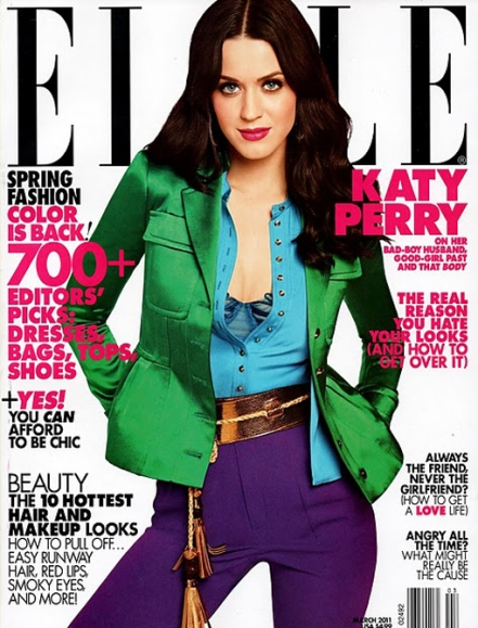 Colour blocking-katy-perry-elle-magazine-march-2011