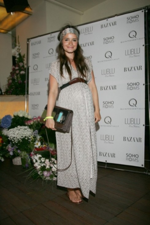 miroslava duma in a maxi dress and Headband