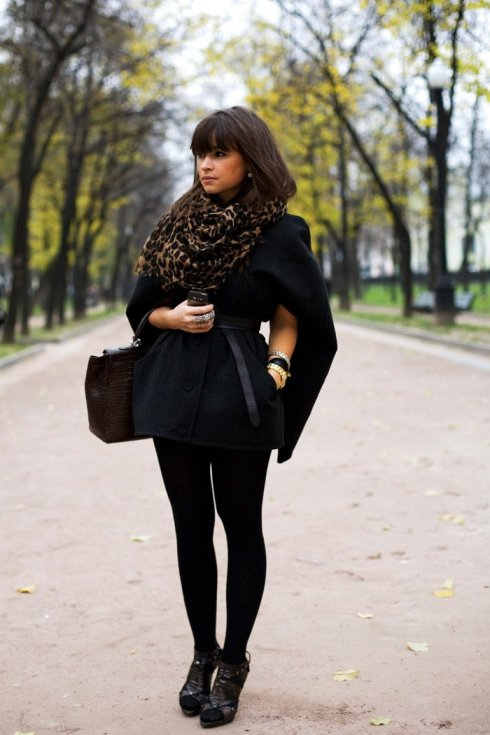 Miroslava Duma in a short winter jacket