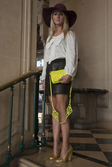 neon yellow bag
