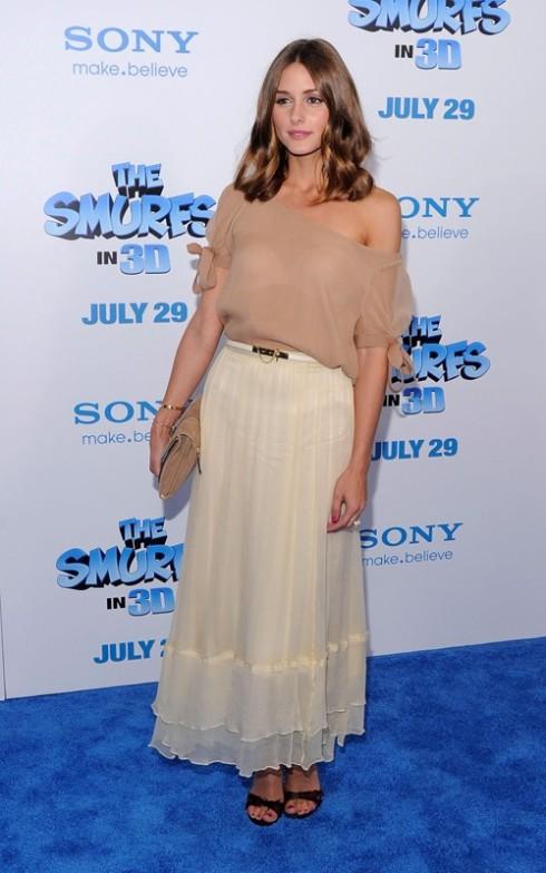 Olivia Palermo in maxi skirt
