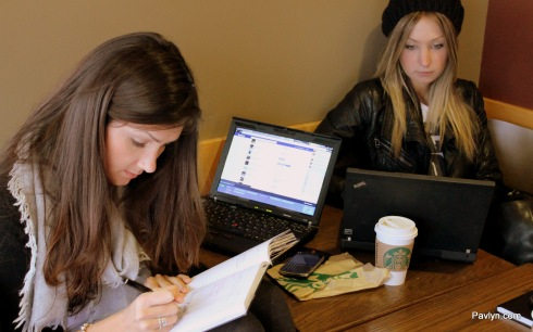 Working on the Pavlyn website at Starbucks