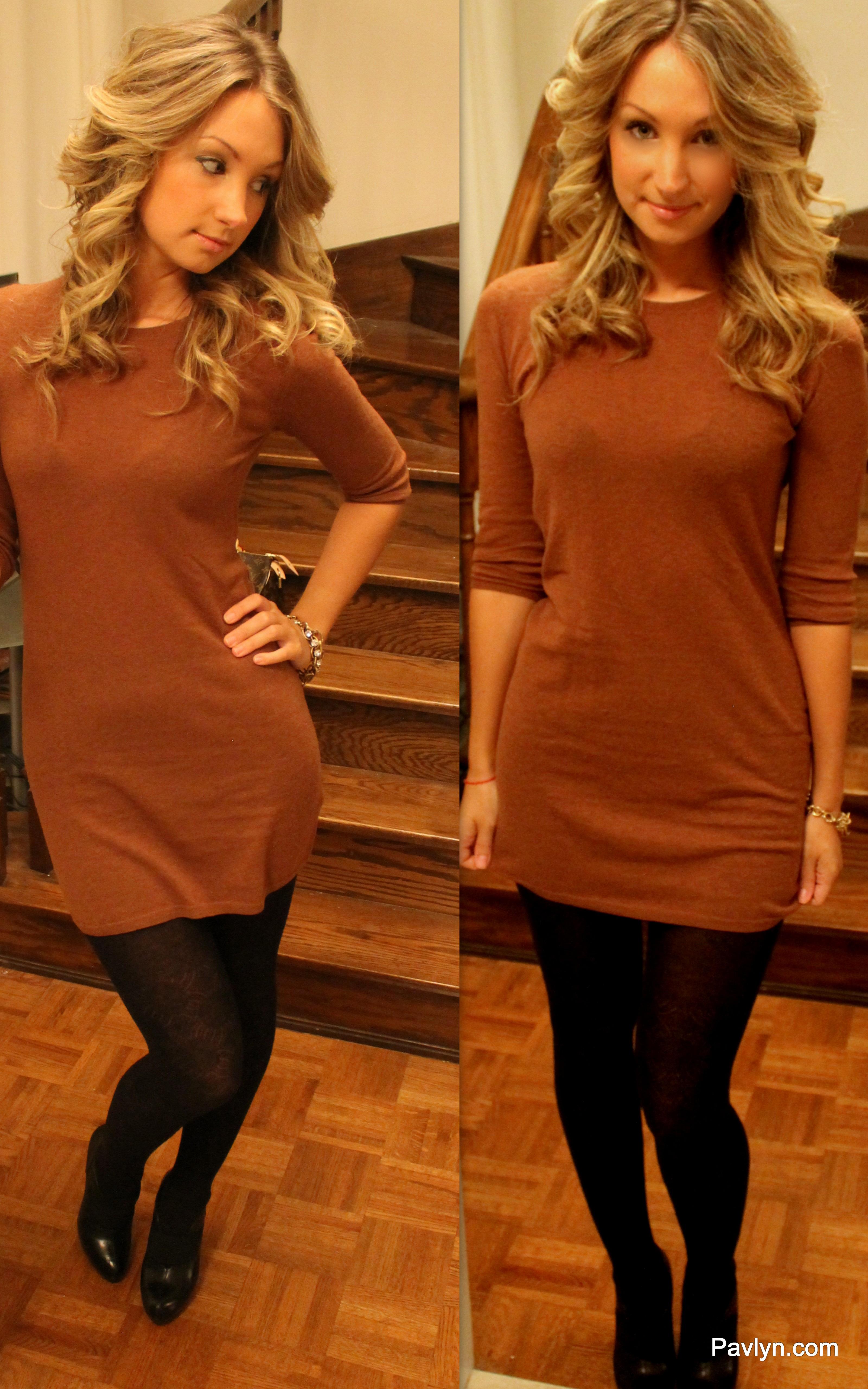 e54336d58e Camel Coloured Sweater Dress