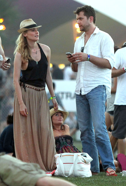 Diane Kruger in neutral maxi skirt at Coachella 2011