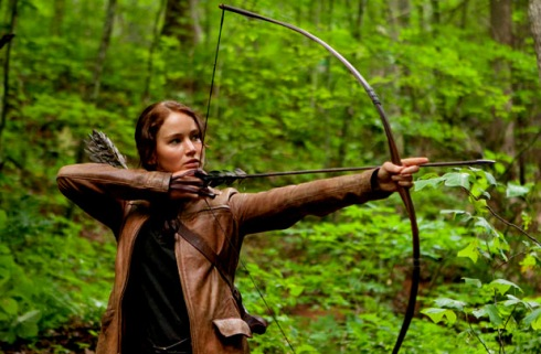Jennifer Lawrence as Katniss the Archer in the Hunger Games