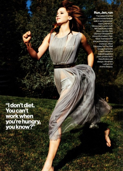 Jennifer Lawrence looking hot for Glamour Magazine Spring 2012