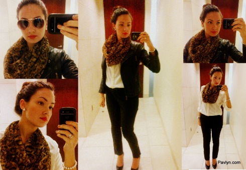 Leopard scarf to work