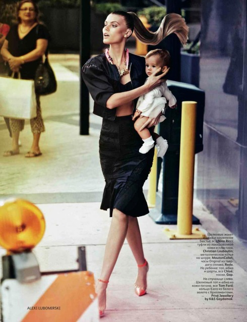 Maryna Linchuk in Nina Ricci - Vogue