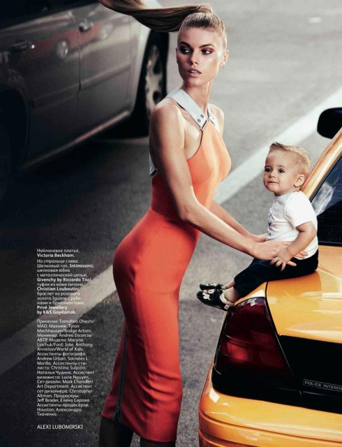 Maryna Linchuk in Victoria Beckham Vogue Russia