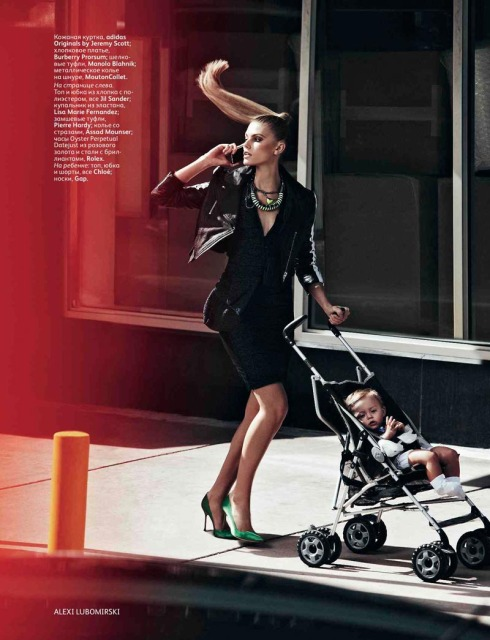 Maryna Linchuk in Vogue Russia