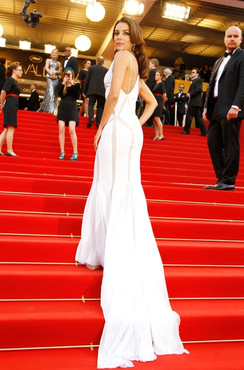 Eva Longoria in Emilio Pucci White Dress at Cannes 2012