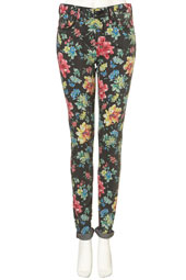 Floral Leigh jeans from Topshop