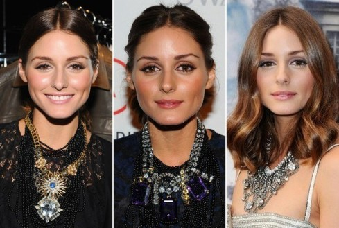 Olivia Palermo wearing statement necklace