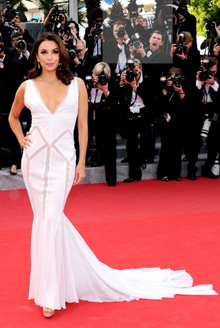 Eva Longoria in White dress at Cannes 2012