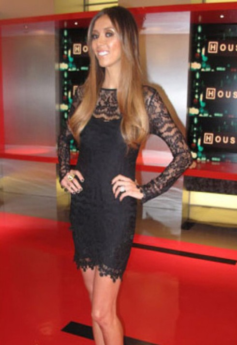 Giulliana Rancic wearing For Love and Lemons black lace dress