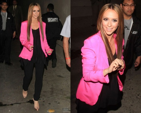 Jennifer Love Hewitt wearing Naven Blazer in Pop Pink