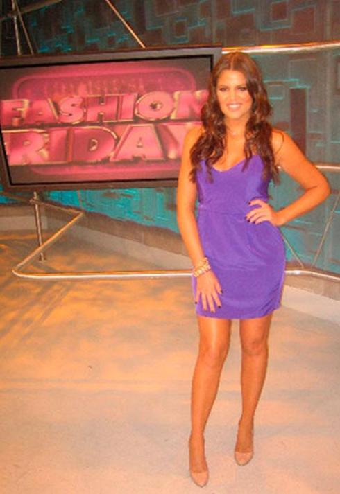 Khloe Kardashian wearing Naven heartthrob dress in purple