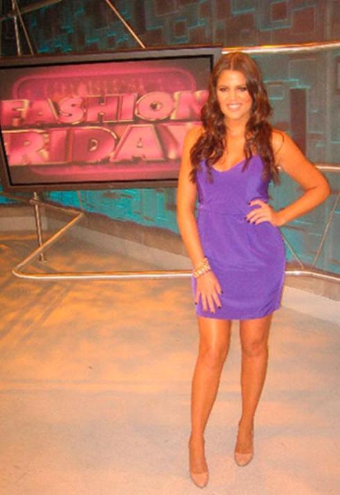 Khloe Kardashian wearing Naven heartthrob dress in purple