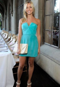 Kristin Cavallari Naven Bombshell dress in California Blue