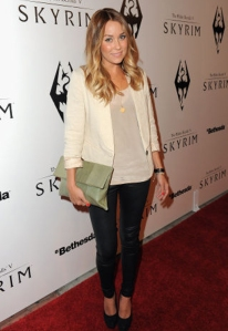 Lauren Conrad in Cream Blazer by Paper Crown