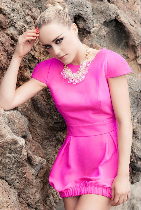 Naven Party Dress in pop pink