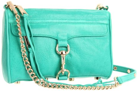Rebecca Minkoff Mini Mac clutch cross-body in mint green