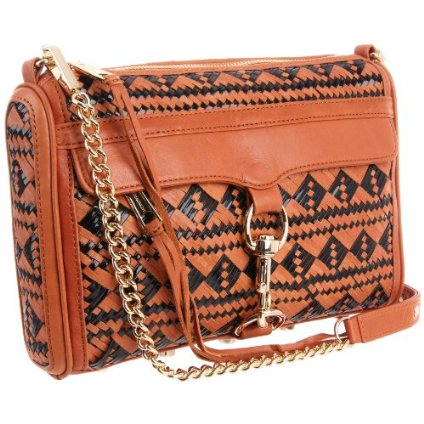 Rebecca Minkoff MAC clutch in black and almond colour
