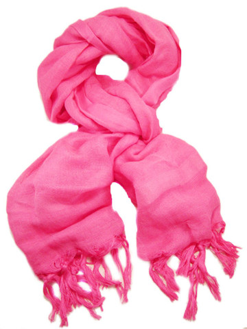 Love Quotes Linen Tassel scarf in pink