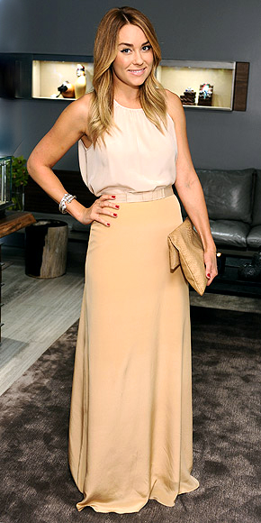 Lauren Conrad in Paper Crown Twain Maxi Skirt