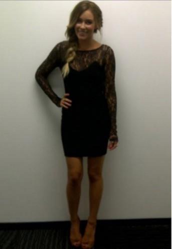 Lauren Conrad Wearing Monet dress by Paper Crown