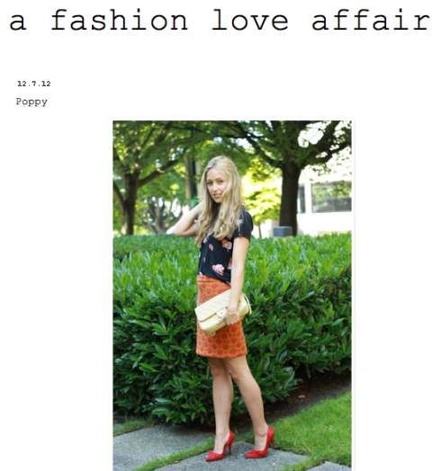 A Fashion Love Affair