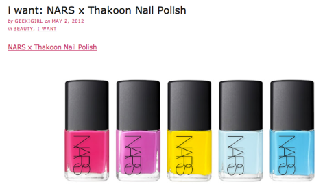 I Want I Got NARS nail polish