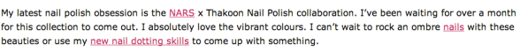 I Want I Got NARS nail polish
