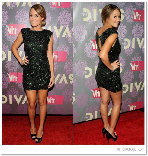 Lauren Conrad in sequin evening dress