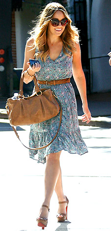 Lauren Conrad wearing lucca dress