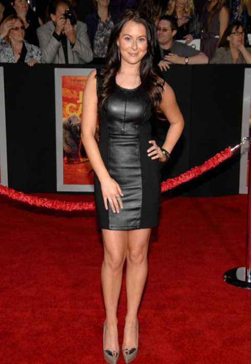 Alexa Vega wearing BLAQUE LABEL LEATHER CUT-OUT DRESS
