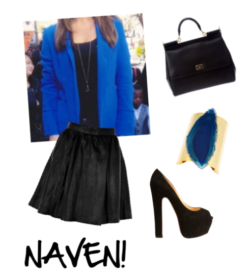 Naven Blazer in Vegas Blue